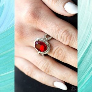 Magnificent Majesty Red Gemstone Ring